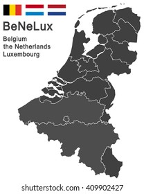 european countries belgium, the netherlands, luxembourg and all provinces