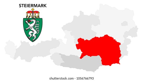 european country austria and the federal state of Steiermark (styria)