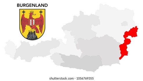 european country austria and the federal state of Burgenland