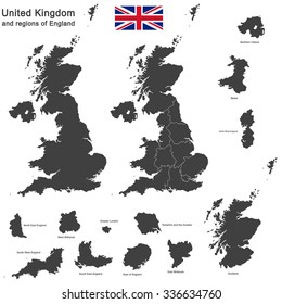 european country United Kingdom and regions of England