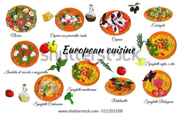 Main Dishes Menu
