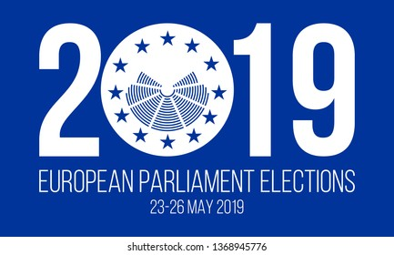 european elections 23-26 may 2019 vector poster