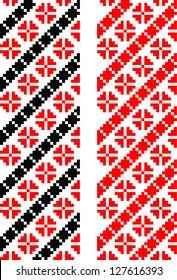 European Floral Embroidery Border