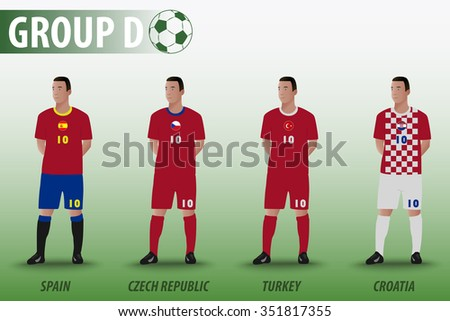 7a19ae48bc0 ... Vector (Royalty Free) 351817355 - Shutterstock. European Football Group  D