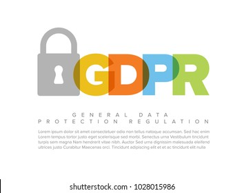 European GDPR concept flyer header template illustration