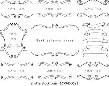 European luxury decorative border illustration set