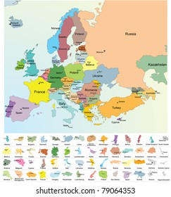 Map Europe Capital Cities Stock Vectors, Images & Vector Art ...