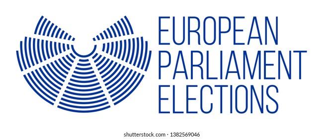 european parliament elections vector poster