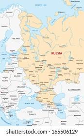 european russia map