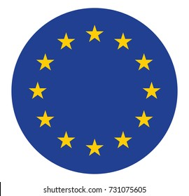 European union flag in the circle