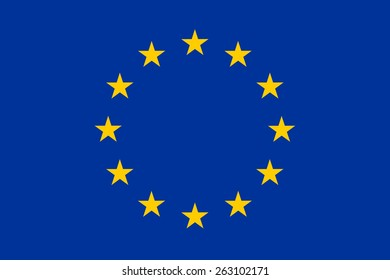 european union flag, EU vector flag