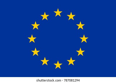 european union flag exact colors