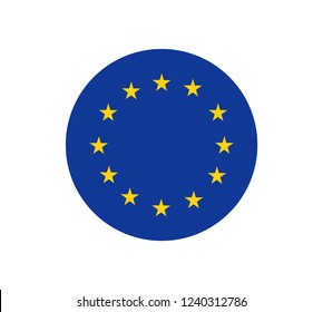 European union flag, official colors and proportion correctly. Patriotic EU symbol, banner, element, design, background. Correct size, colors. Official vector flag of European Union ( EU )