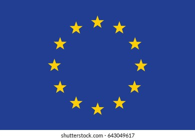 European Union Flag. Vector.