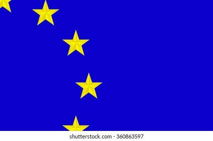 European Union flag.vector illustration.