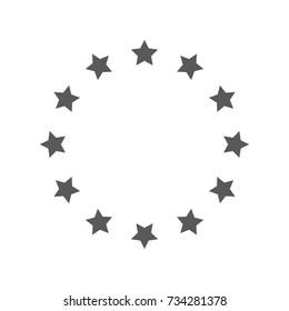 European Union icon. Vector simple illustration of European Union icon isolated on white background