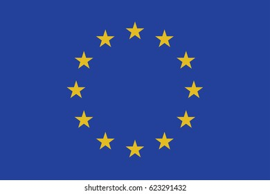 European Union vector flag, Illustration EPS 10