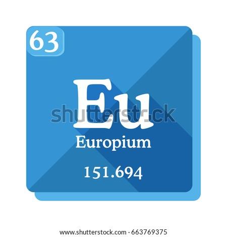 Europium Eu Element Periodic Table Vector Stock Vector Royalty Free