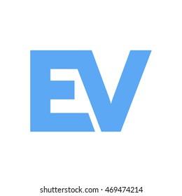 ev initial logo design