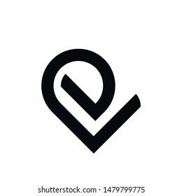 EV letter logo design vector