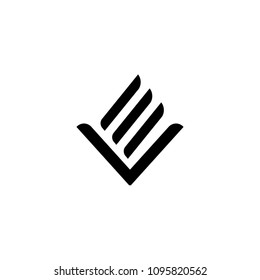 EV monogram organic concept logo
