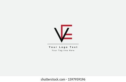 EV VE letter logo. Unique attractive creative modern initial EV VE E V initial based letter icon logo