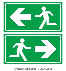 evacuation route icon logo