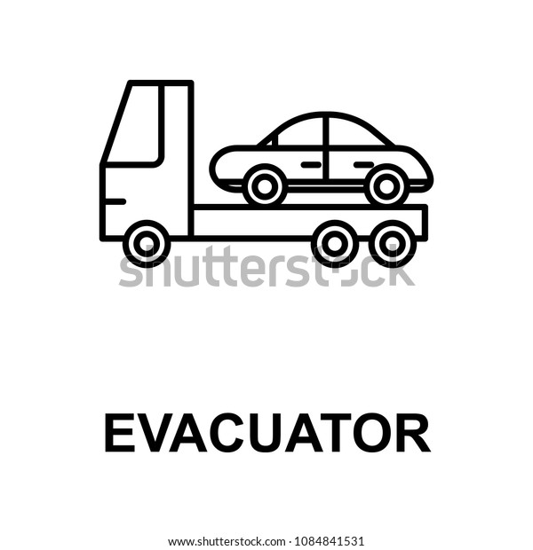evacuator icon. Element of car repair for mobile concept and web apps. Detailed icon can be used for web and mobile. Premium icon on white background