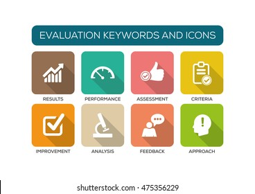 Evaluation Flat Icon Set