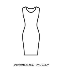lady dress outline images stock photos vectors shutterstock