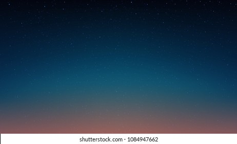 Evening shining starry sky, blue space background with stars, cosmos