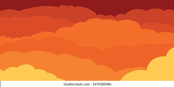 Evening sky Sunset sky Clouds cloud Background. Vector icon icons sign signs fun funny cartoon cartoons strips drawn drawing stroke air heaven cloudscape panorama  seamless colored abstract Borders