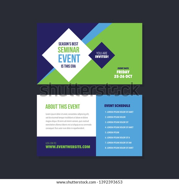 Event Conference Invitation Card Rack Card Stock Vector