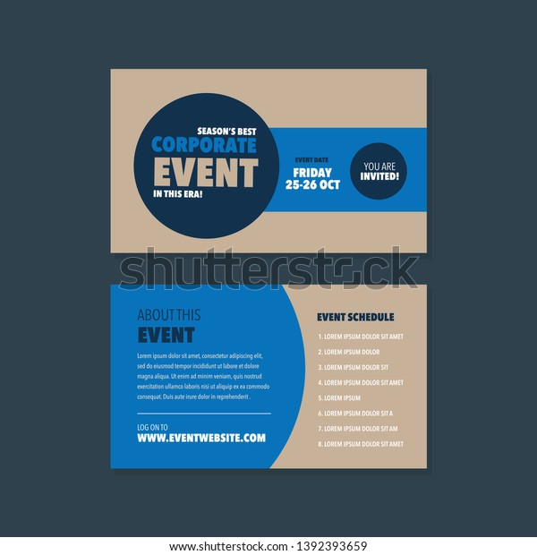 Event Conference Invitation Card Rack Card Miscellaneous