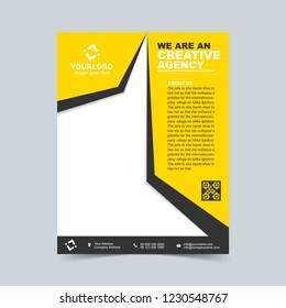 Event gold flyer template. Vector illustration.
