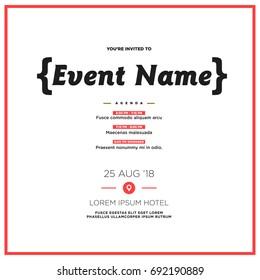 Event Invitation Images, Stock Photos & Vectors | Shutterstock