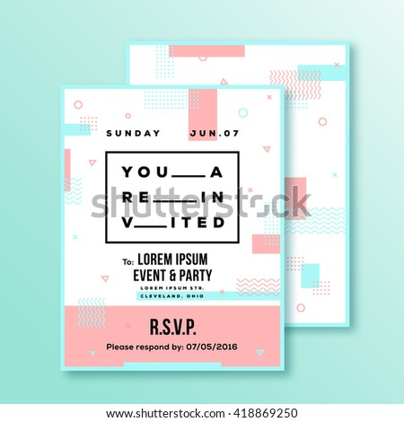 Event Party Invitation Card Poster Template Stock Vector Royalty