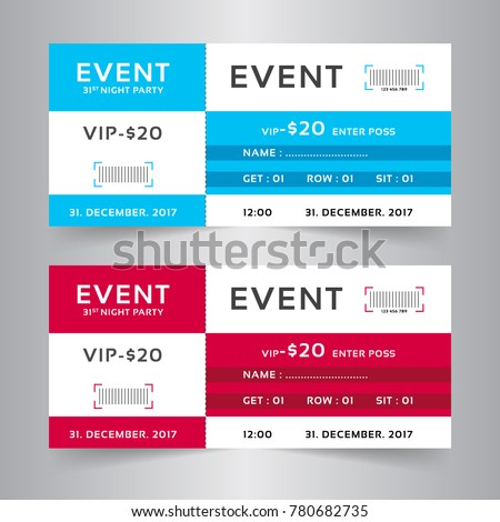 event ticket card modern design template stock vector royalty free