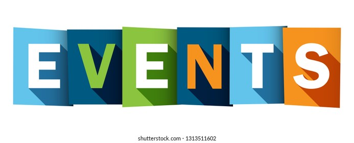 EVENTS colorful typography banner
