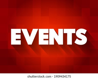 Events text quote, concept background