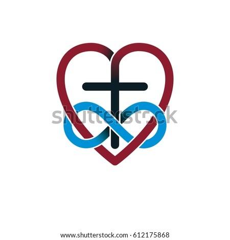 Everlasting Love God Vector Creative Symbol Stock Vector Royalty