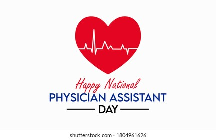 Every year in October, we celebrate National Physician Assistant day, which recognizes the PA profession and its contributions to the nation's health. Vector illustration.