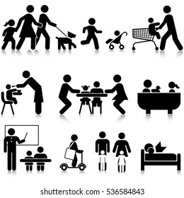 Everyday Family Info Graphic Resource Icon Set