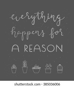 Everything happens for a reason essay