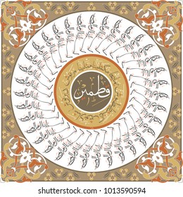 "Everything in the Islamic world begins with the name of Allah. This table with 35 Bismillah and ""Ashab-i Kehf"" is specific."