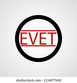 EVET (Yes) elections in Turkey isolated stamp vector sign