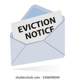 eviction notice in envelope, vector illustration