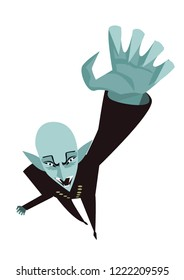 evil bald vampire