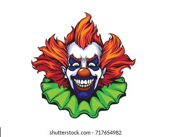 evil clown halloween illustration