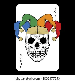 Evil Clown Joker Card